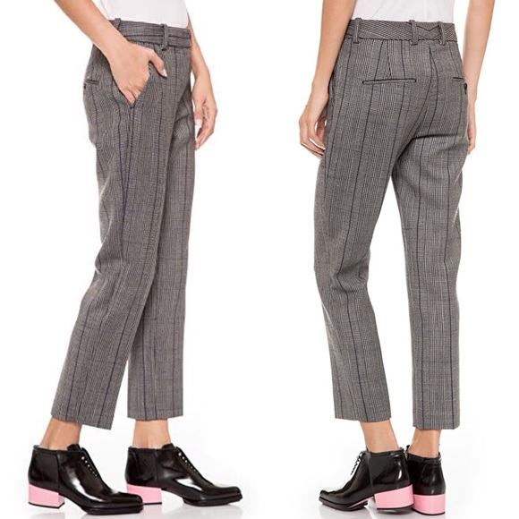 3.1 Phillip Lim Glen Plaid Wool Pencil Pants Sz. 4